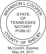 Pre-Inked Tennessee Notary