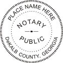 Pocket Seal, Notary Public